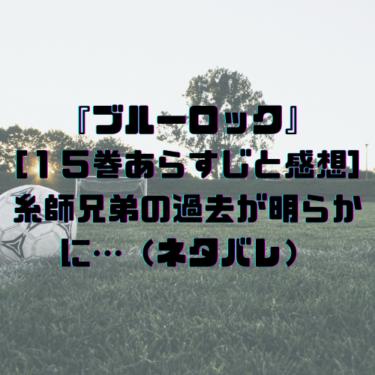 『ブルーロック』[15巻あらすじと感想]糸師兄弟の過去が明らかに…(ネタバレ)
